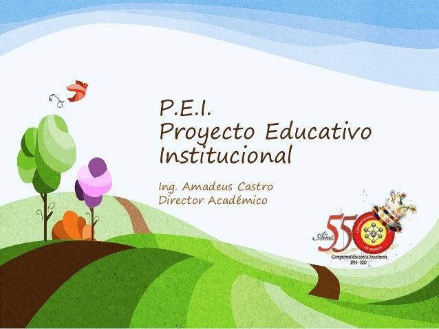 P.E.I. Proyecto Educativo Institucional Ing. Amadeus Castro Director Académico