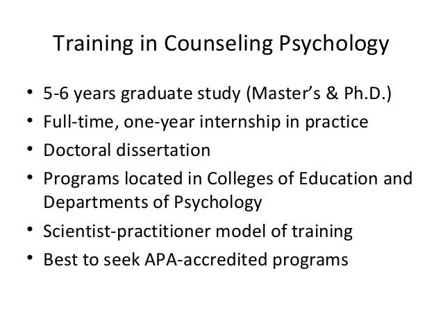 Dissertation counseling psychology