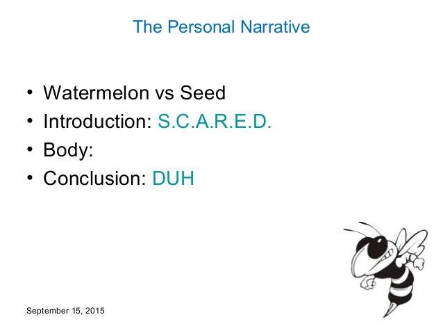 personal narrative conclusion