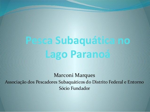 Pesca Subaquática no Lago Paranoá Marconi Marques Associação dos Pescadores Subaquáticos do Distrito Federal e Entorno Sóc...