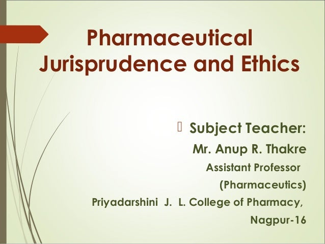 1 pharmaceutical legislation in india