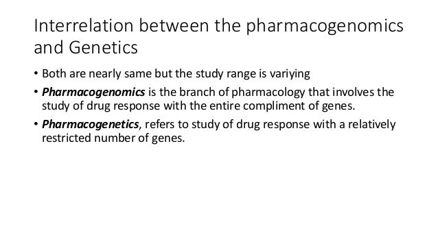 pharmocogenomics and genetics in relation with molecular therapeutics and diagnosis Slide 3