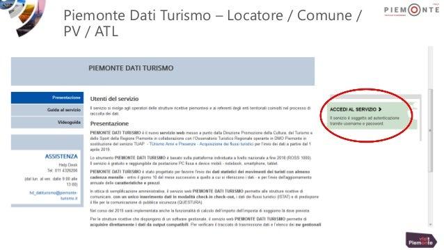 Piemonte Dati Turismo – Locatore / Comune / PV / ATL