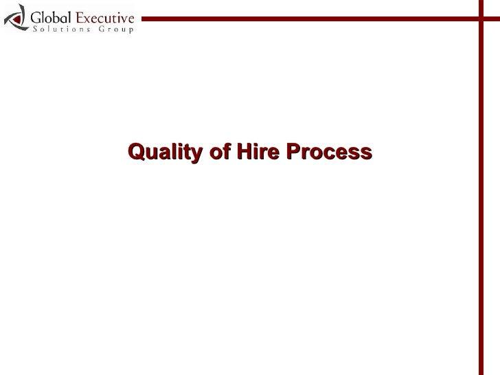 <ul><li>Quality of Hire Process </li></ul>