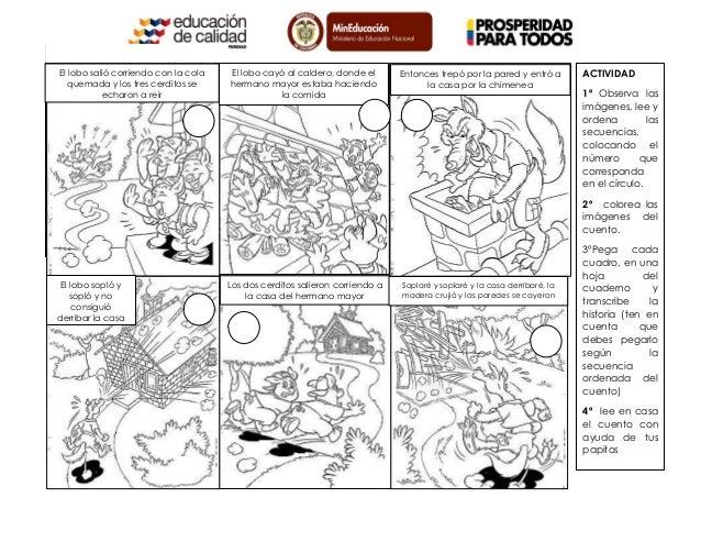 Cuentos Infantiles Cortos Para Colorear E Imprimir Imagui: Secuencia Del Cuento Los Tres Cerditos Para Colorear