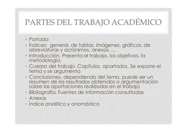 planificar y elaborar el trabajo académico