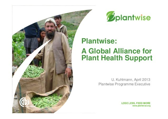 LOSE LESS, FEED MOREwww.plantwise.orgA Global Alliance forPlant Health SupportPlantwise:U. Kuhlmann, April 2013Plantwise P...