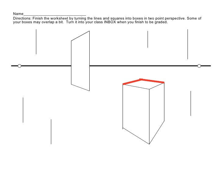 Printables One Point Perspective Worksheet 1 point perspective 61 name directions finish the worksheet