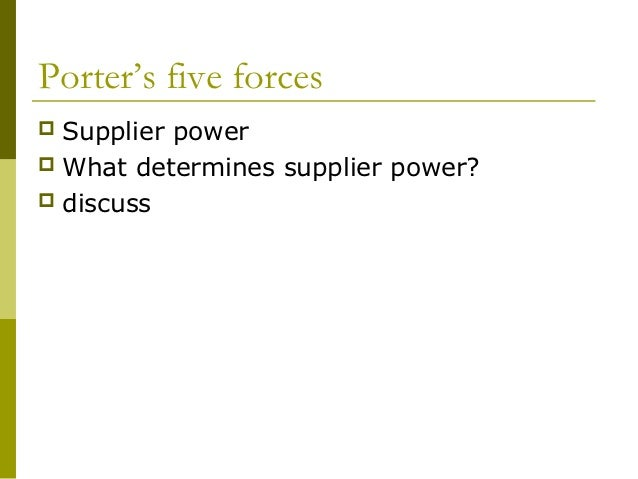 1 porters five forces for Porter 5 forces reference