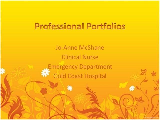 Jo-Anne McShane Clinical Nurse Emergency Department Gold Coast Hospital