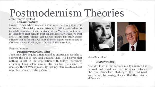 postmodern theory What is postmodernapril, 2000 theory x or y centralized with many layers and rules boss centered white male career tracks tell them what to do.