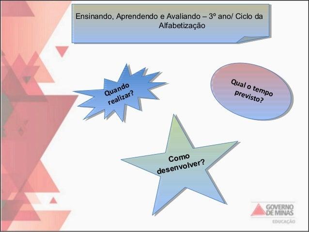 Ensinando, Aprendendo e Avaliando – 3º ano/ Ciclo da Ensinando, Aprendendo e Avaliando – 3º ano/ Ciclo da Alfabetização Al...