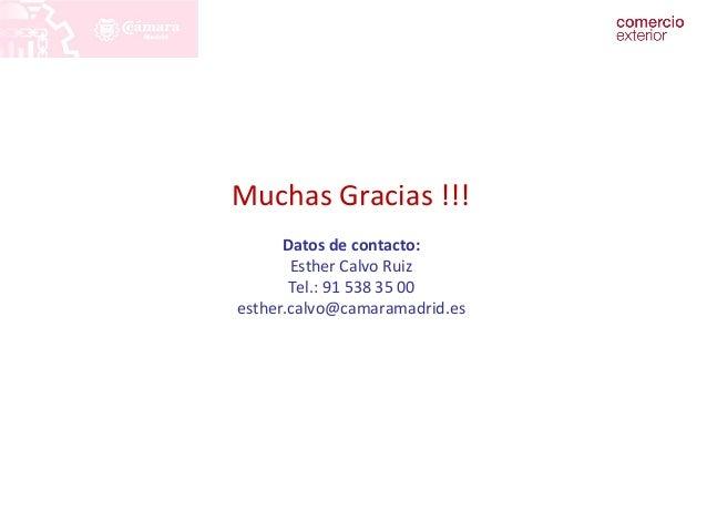 PLANES DE DESARROLLO Y SECTORES PRIORITARIOS  Muchas Gracias !!!  Datos de contacto:  Esther Calvo Ruiz  Tel.: 91 538 35 0...