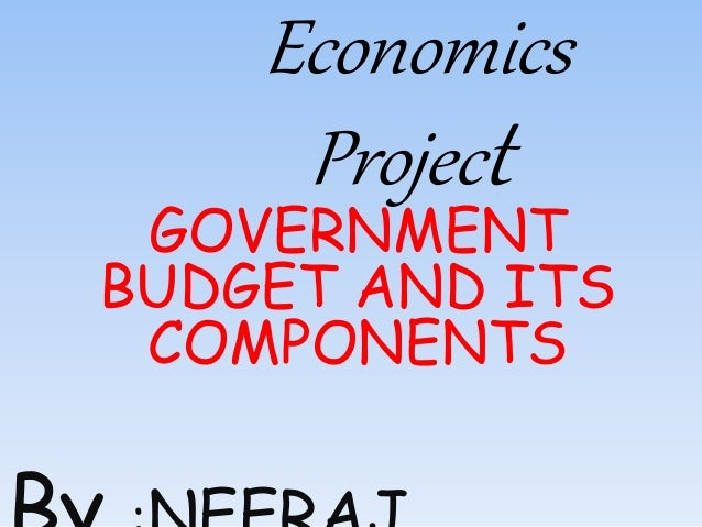 Economics Project GOVERNMENT BUDGET AND ITS COMPONENTS