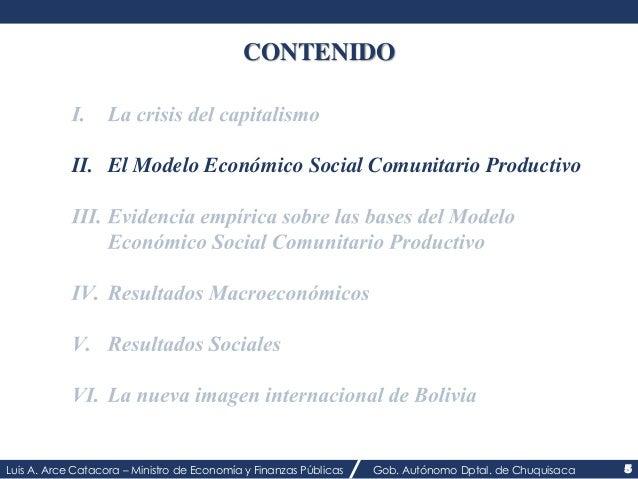 CONTENIDO  II. El Modelo Económico Social Comunitario Productivo  Luis A. Arce Catacora – Ministro de Economía y Finanzas ...