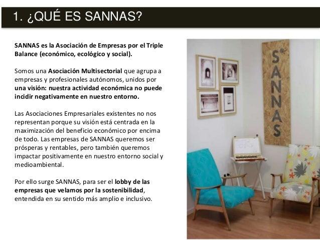 SANNAS es la Asociación de Empresas por el Triple Balance (económico, ecológico y social). Somos una Asociación Multisecto...