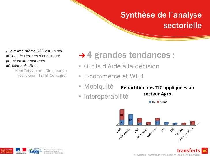 Synthèse de l'analyse                                                                 sectorielle« Le terme même OAD est u...