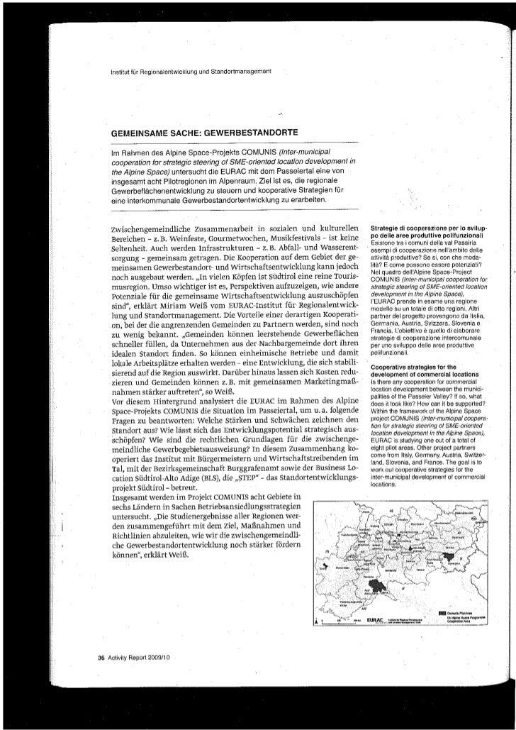 Artikel: Gemeinsame Sache - Gewerbestandorte