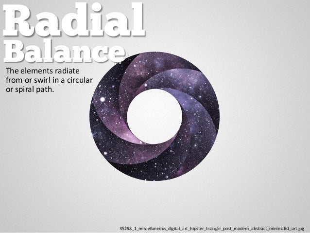 Radial The elements radiate from or swirl in a circular or spiral path. 35258_1_miscellaneous_digital_art_hipster_triangle...