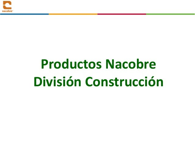 Productos Nacobre División Construcción