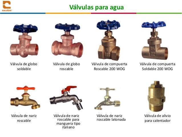 Tipos valvulas para gas