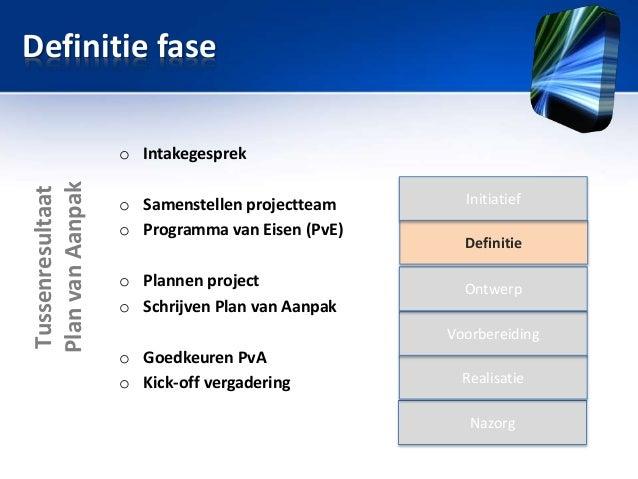 definitie plan van aanpak Sessie 1: Project, projectmanagement van A Z, PRM definitie plan van aanpak