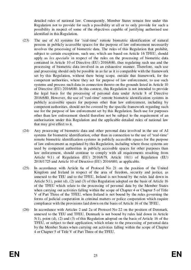 EN 23 EN detailed rules of national law. Consequently, Member States remain free under this Regulation not to provide for ...