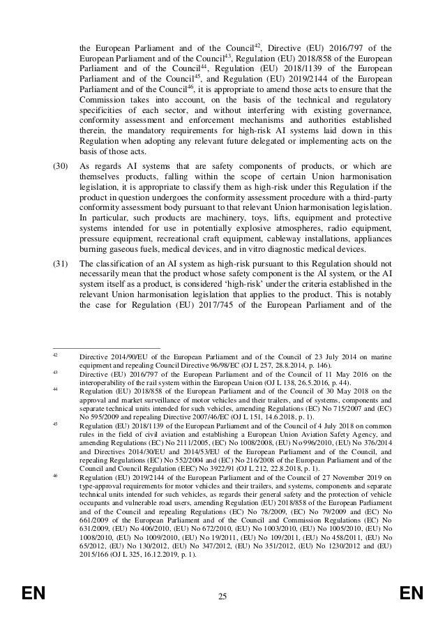 EN 25 EN the European Parliament and of the Council42 , Directive (EU) 2016/797 of the European Parliament and of the Coun...
