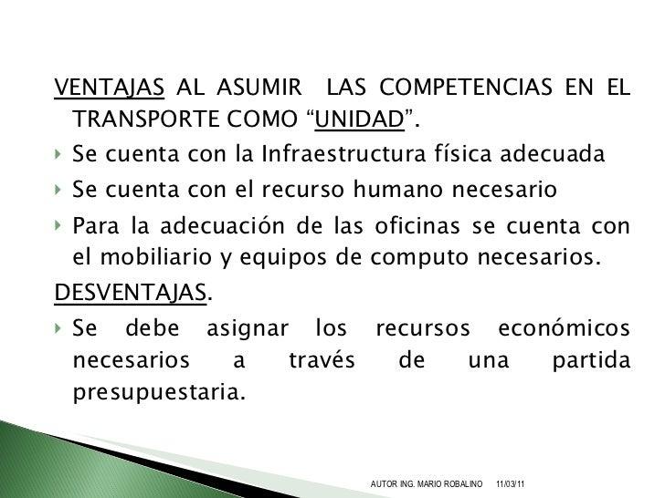 Propuesta de creacion de competencias en transporte terrestre for Oficina fisica ing