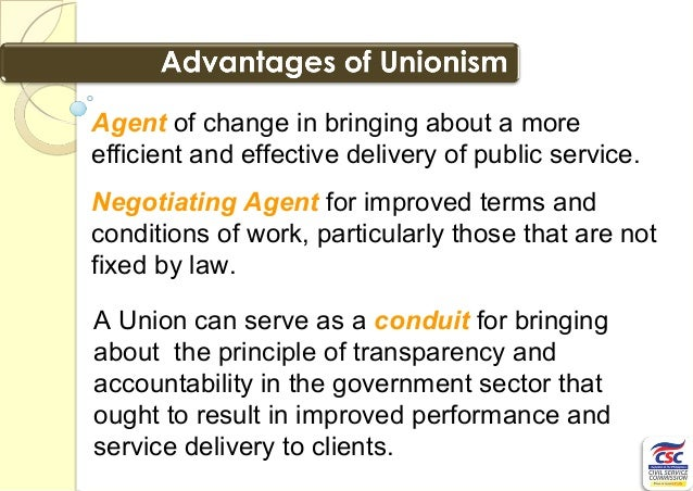 Public Sector Union  Principles And Benefits