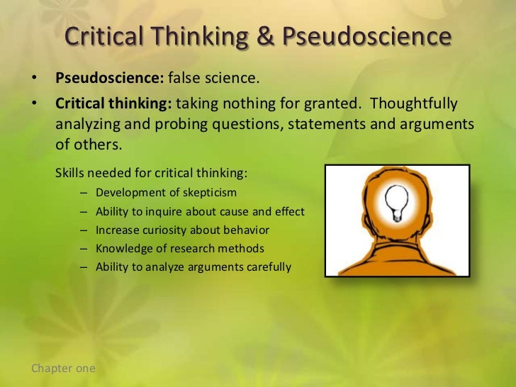 psychology critical thinking essay