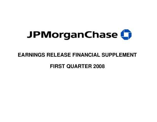 EARNINGS RELEASE FINANCIAL SUPPLEMENT FIRST QUARTER 2008