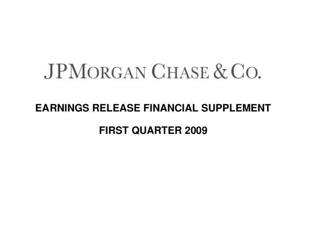 EARNINGS RELEASE FINANCIAL SUPPLEMENT FIRST QUARTER 2009