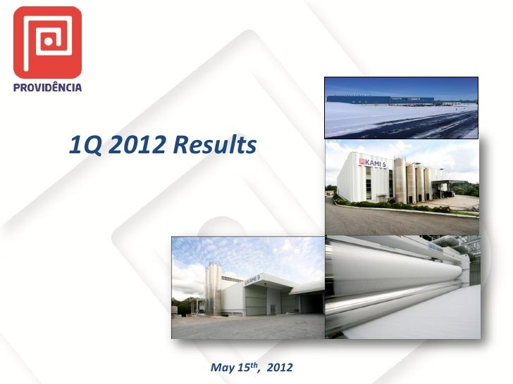 1Q 2012 Results           May 15th, 2012