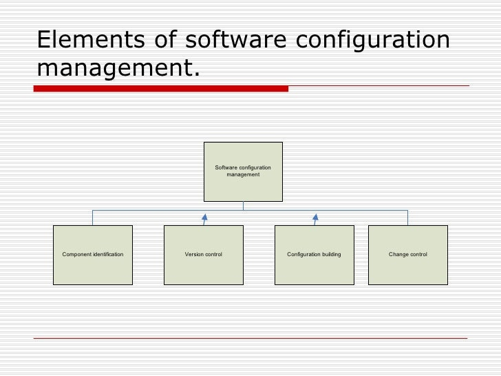 Elements of software configuration management.