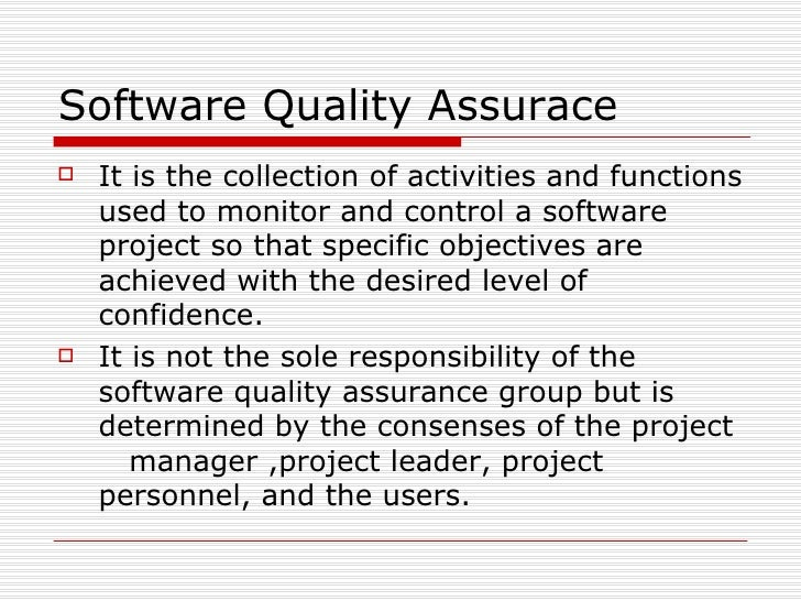 <ul><li>It is the collection of activities and functions used to monitor and control a software project so that specific o...