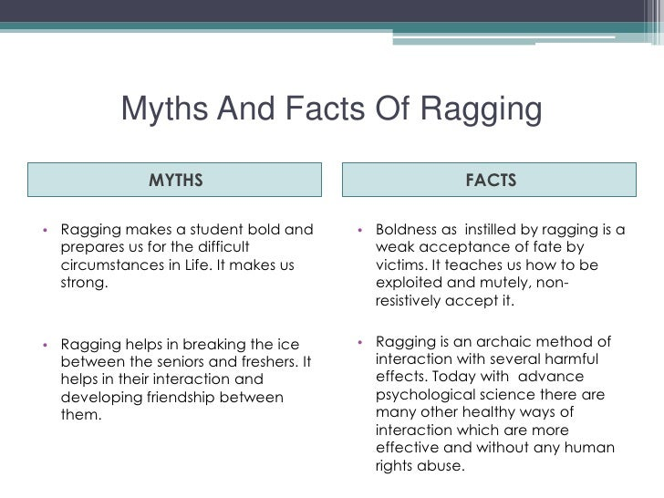 effects of ragging