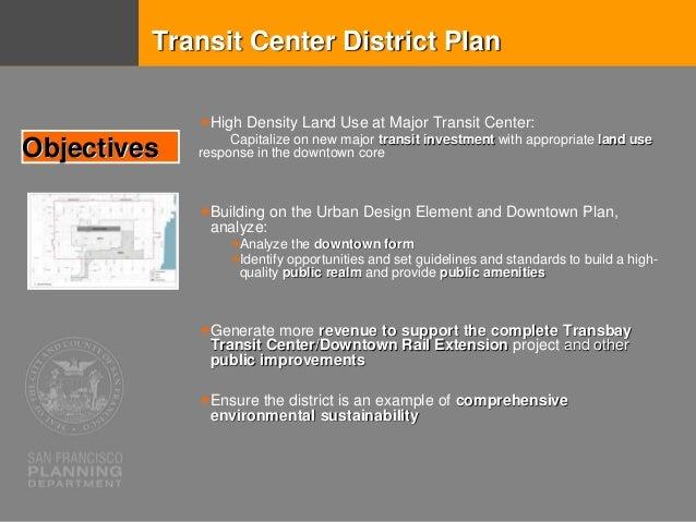 City Form   Emphasizing the Transit Core