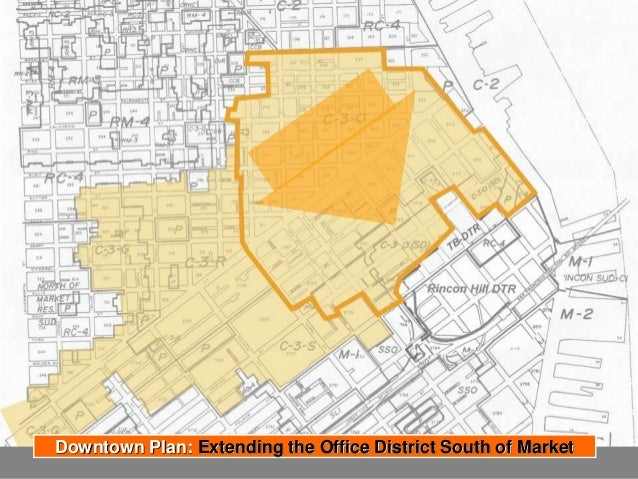 Highest Allowed Heights prior to plan adoption (550') Development Transfer District Downtown Plan: Extending the Office Di...