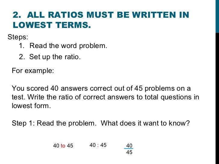 1 - Ratios & Proportions