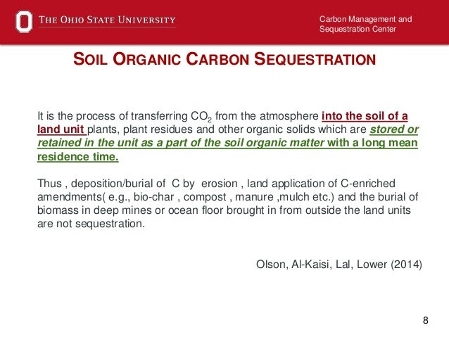Soil organic carbon sequestration importance and state of for Soil organic carbon