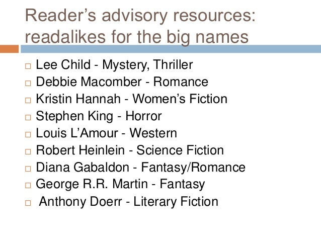 The readers' advisory guide to genre fiction (Book, 2019 ...