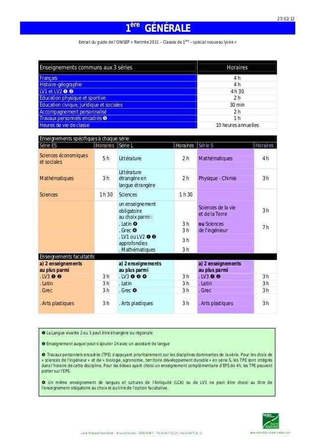 27/02/12 www.ensemble-scolaire-niortais.comLycée Polyvalent Saint-André – 14 rue de Souché – 79000 NIORT – Tél. 05.49.77.2...