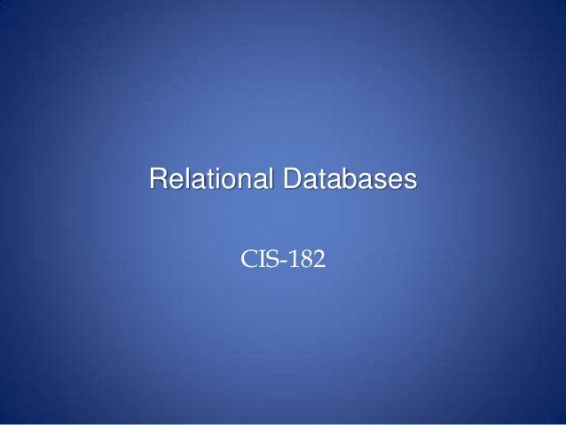 relational databases Database programs were rigid and one-off until researcher edgar ted codd changed how data was sorted and handled in 1970, he defined the relational database, now the system behind everything from patient records to airline schedules.