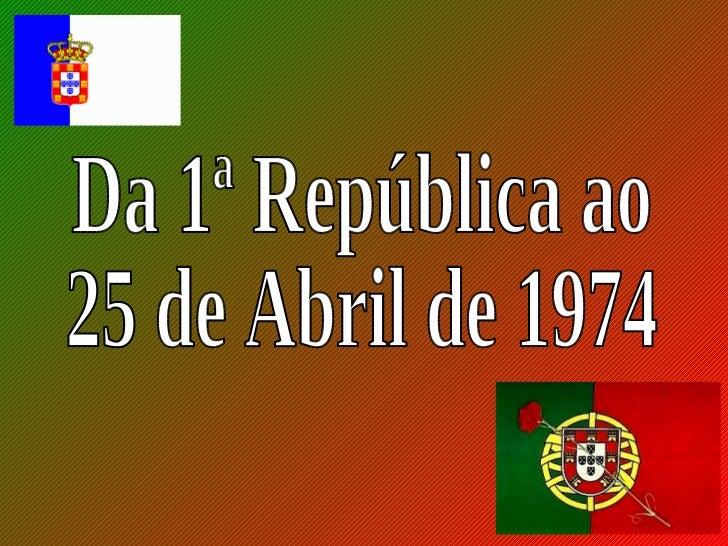 Descontentes com a monarquia, osrepublicanos fizeram uma revolução eproclamaram a República a 5 de outubrode 1910.        ...