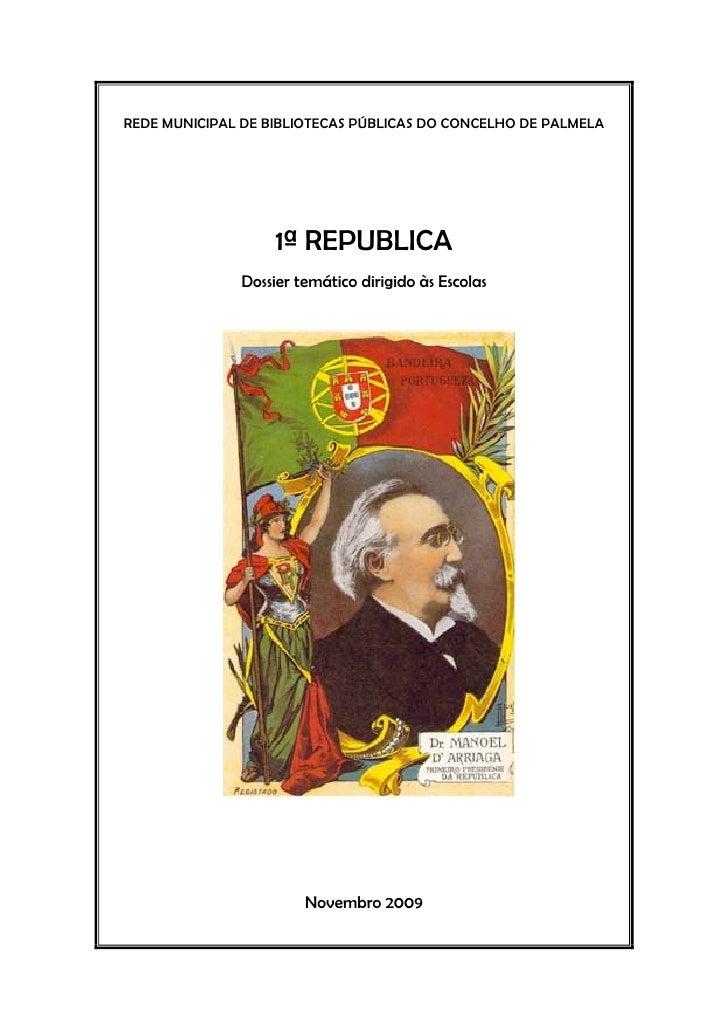 1ª República - dossier temático dirigido às escolas