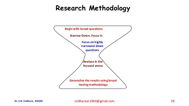 Begin with broad questions Narrow Down, Focus in Focus on highly narrowed down questions Analyse in the focused arena Gene...