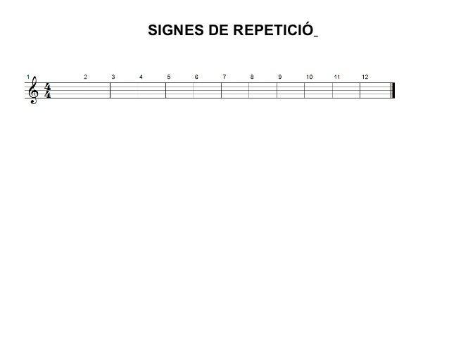SIGNES DE REPETICIÓ