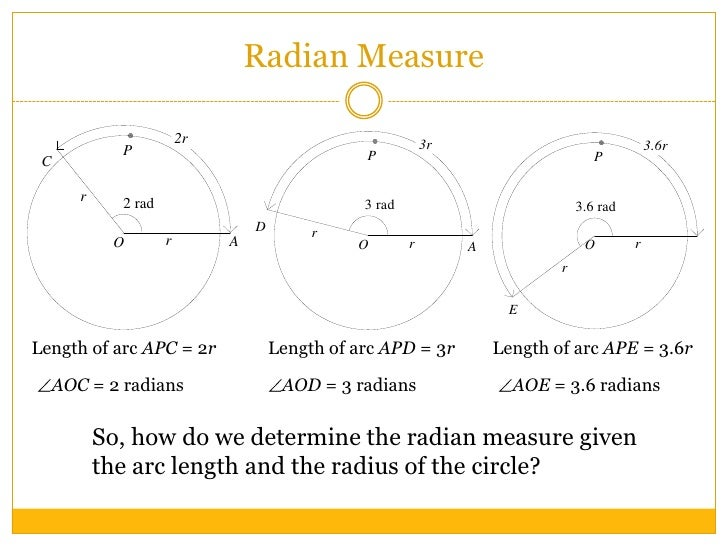 how to find the area of a sector in radians