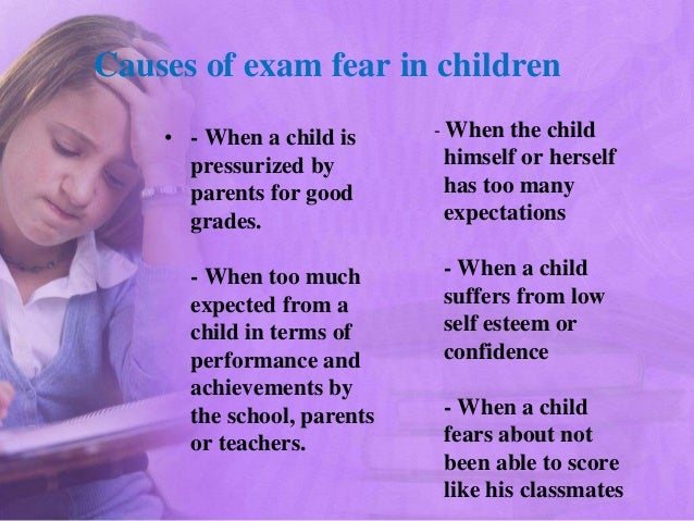 short essay on fear of examination Tips on writing the essay-type examination the well-organized, neat-appearing individual will usually get the nod over another equally capable person who is disorganized and careless in appearance although other factors are involved, the analogy to examination writing is a skill.